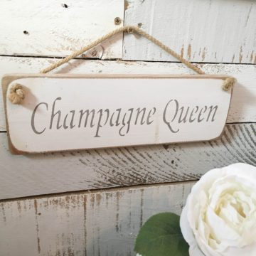 Wall Plaque - Champagne Queen