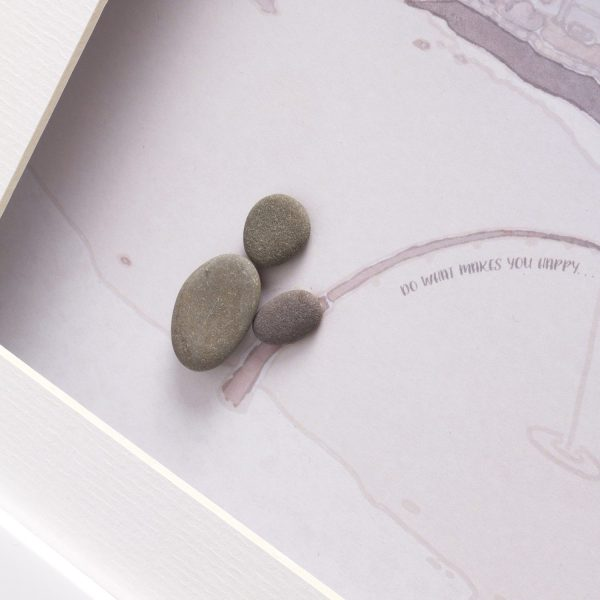 'Do What Makes You Happy' Fishing Pebble Picture