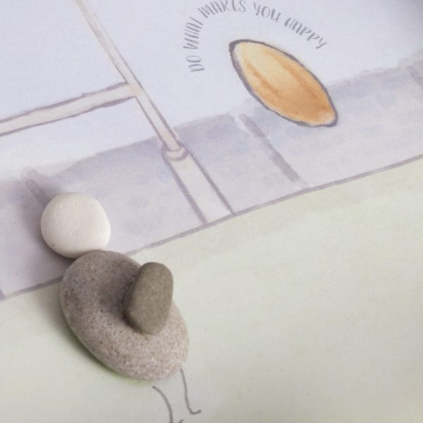 'Do What Makes You Happy' Rugby Pebble Picture