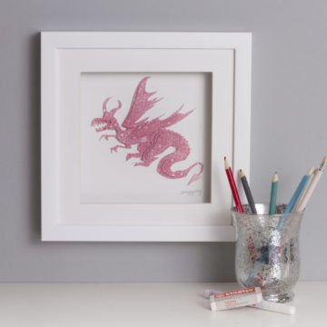 'Dragon Framed Picture' Children's Collection