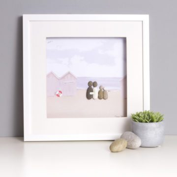 'Life's A Beach' Pebble Picture