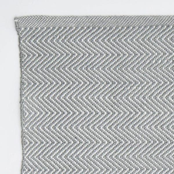 Dove Grey Herringbone Rug