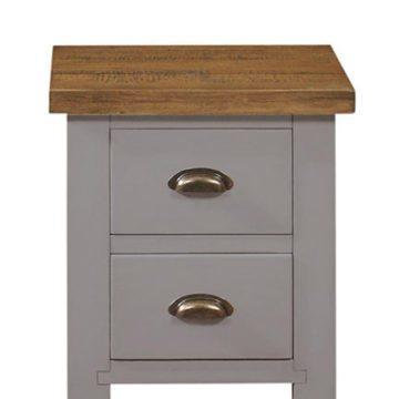 Gresford Grey 2 Drawer Bedside Table
