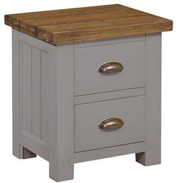 Gresford Grey 2 Drawer Bedside Table 1