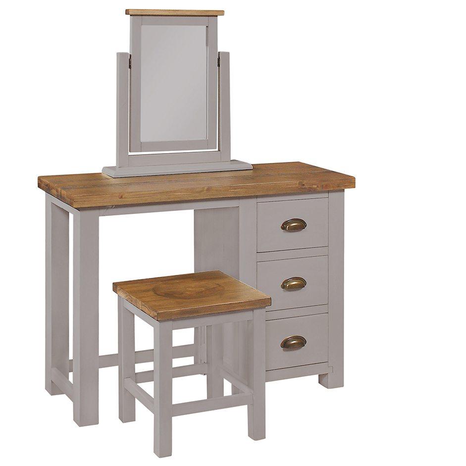 Gresford Grey 3 Drawer Dressing Table
