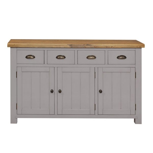 Gresford Grey 4 Drawer 3 Door Sideboard