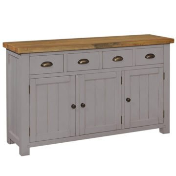 Gresford Grey 4 Drawer 3 Door Sideboard