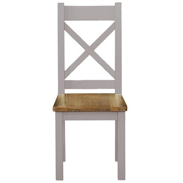 Gresford Grey Dining Chair Timber Seat KD