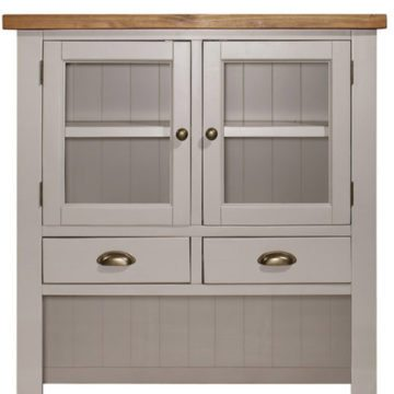 Gresford Grey Hutch 2 Door 3 Drawer Sideboard