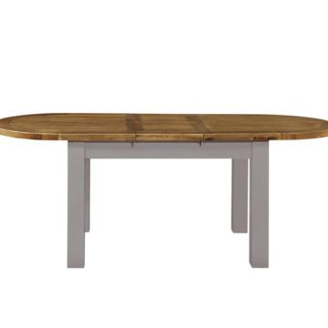 Gresford Grey Oval Ext. Table 1800 extend 2200