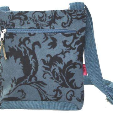 Blue Velvet Cross-Body Bag