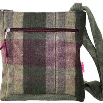 Khaki Tartan Cross-Body Bag