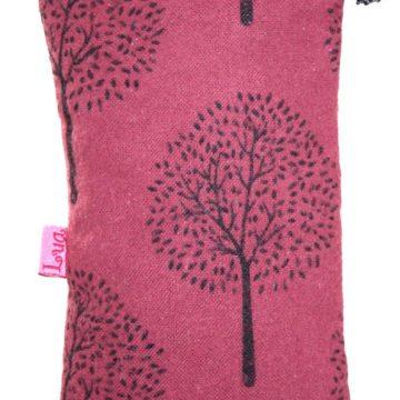 Dark Pink Tree Glasses Purse