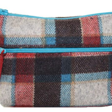 Red Check Two Zip Purse