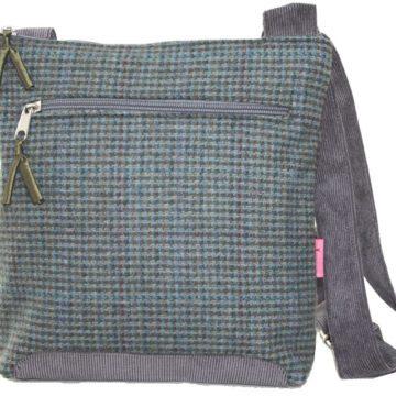 Teal Tartan Cross-Body Bag