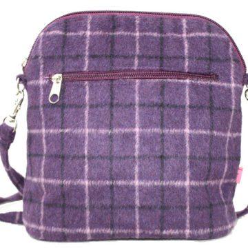 Stripe Tartan Purple Bag