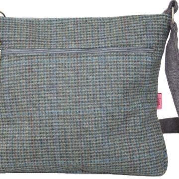 Teal Tartan Messenger Style Bag