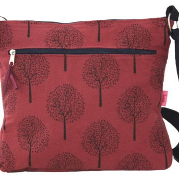 Dark Pink Tree Messenger Style Bag