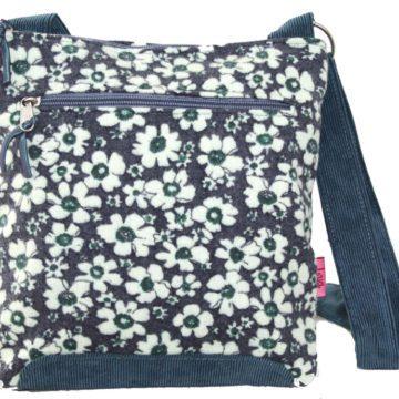 Navy Flower Cross-Body Bag