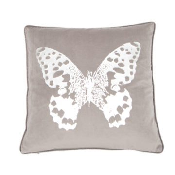 BUTTERFLY CUSHION | SILVER