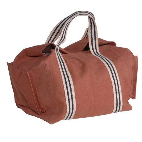 Canvas Bag With Red Striped Handles