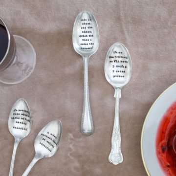 Dessert Spoon - 'Life Is Short, Buy The Shoes, Drink The Wine & Order The Dessert'