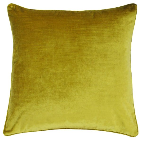 Luxe Velvet Ochre Cushion
