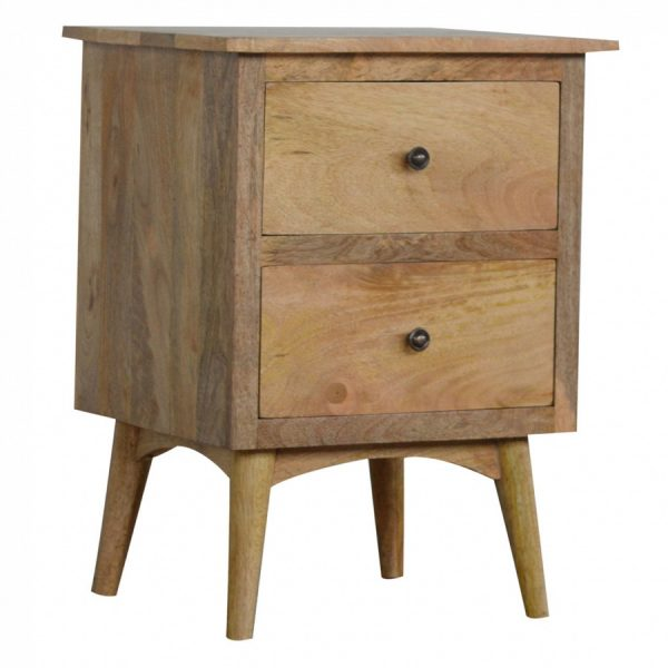 Mango Hill 2 Drawer Bedside Table