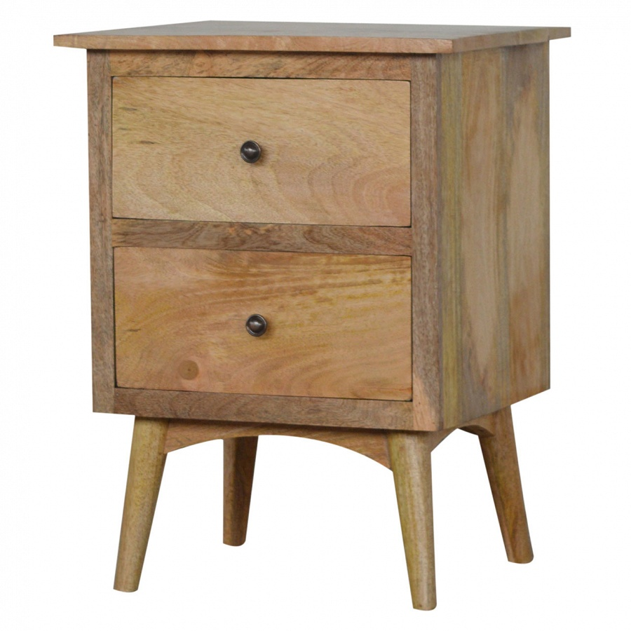 Mango Hill 2 Drawer Bedside Table