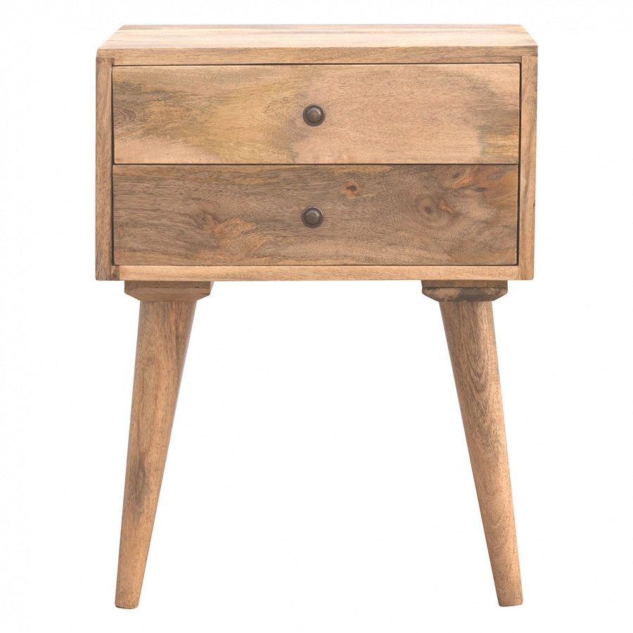 timeless design 17345 2a6bc Mango Hill 2 Drawer Solid Wood Bedside Table