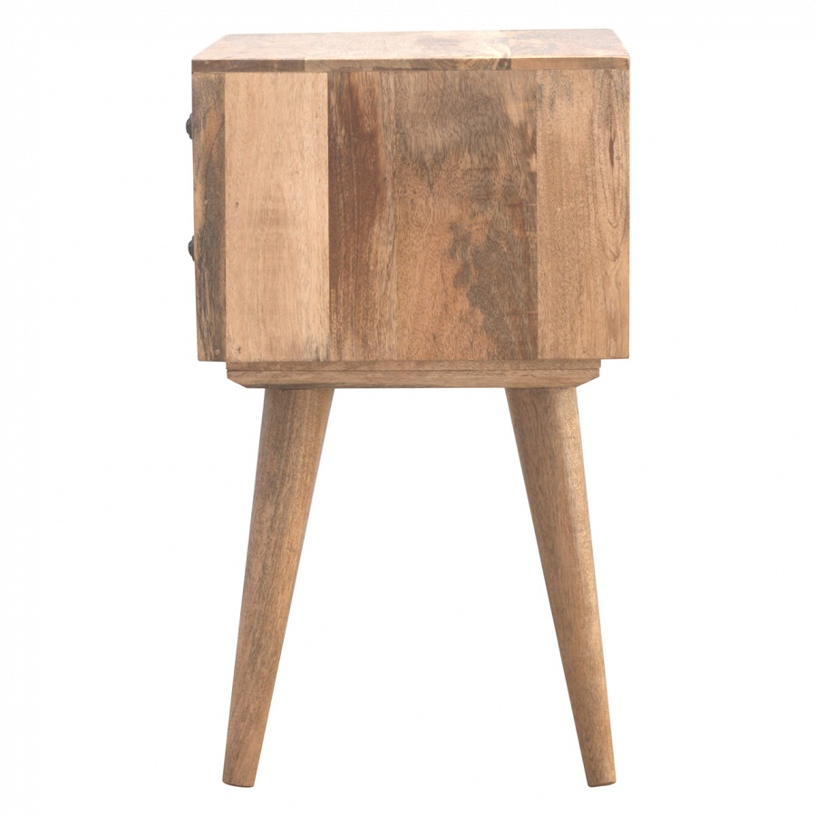 Mango Hill 2 Drawer Solid Wood Bedside Table