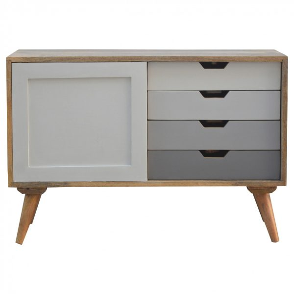 Mango Hill 4 Drawer Cabinet With Sliding Door