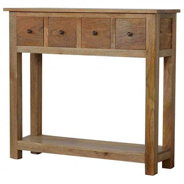 Mango Hill 4 Drawer Console Table