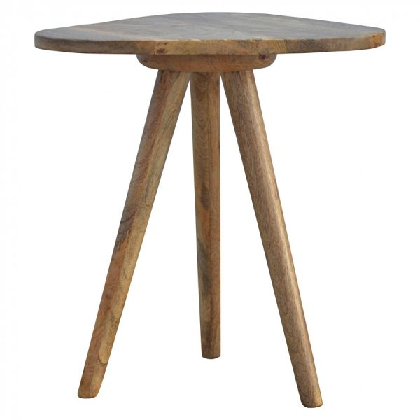 Mango Hill Accent Triangular Tripod Stool