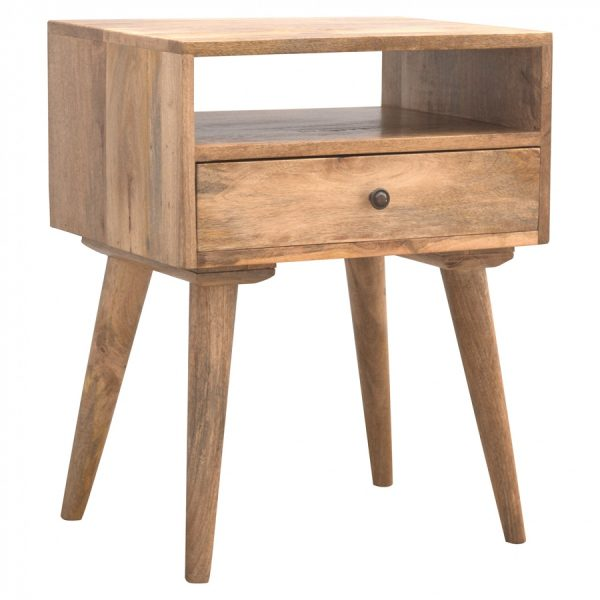 Mango Hill Bedside with 1 Drawer & Open Slot
