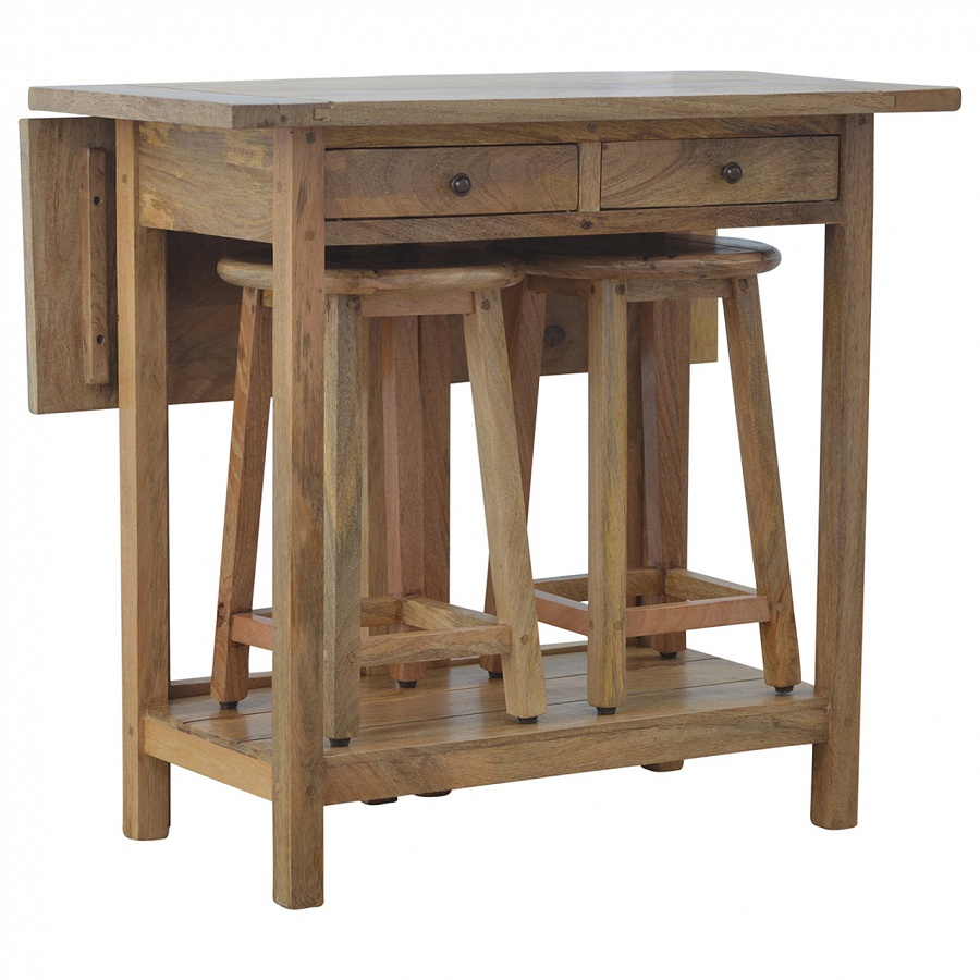 Mango Hill Breakfast Table With 2 Stools The Haven Home