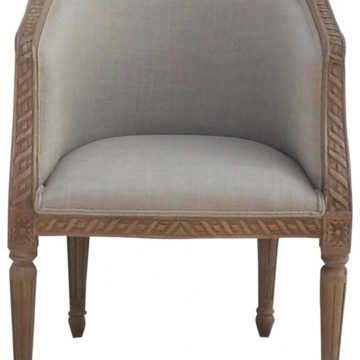 Mango Hill Carved Upholstered Tub Chair