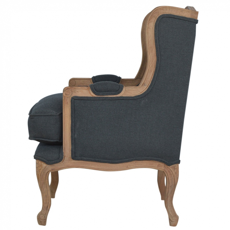 Mango Hill French Upholstered Wing Arm Chair