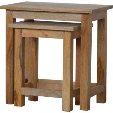 Mango Hill Stool Set of 2 Nesting Tables