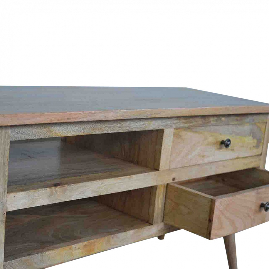 Mango Hill TV Stand with 2 Drawers and Shelf