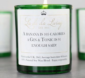 POP Candle – 'A Banana is 105 Calories, A G&T is 91, Enough Said'