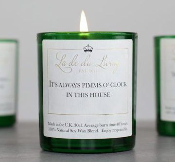 POP Candle – 'It's Always Pimms O'Clock In This House'
