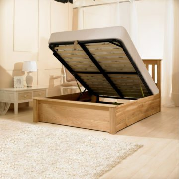 Monaco Solid Oak Bed