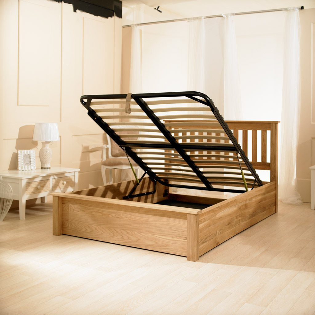 Monaco Solid Oak Bed