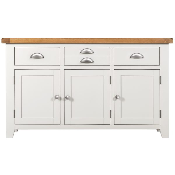 Willow White 3 Door 3 Drawer Sideboard