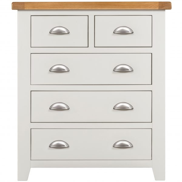 Willow White 2+3 Drawer Chest