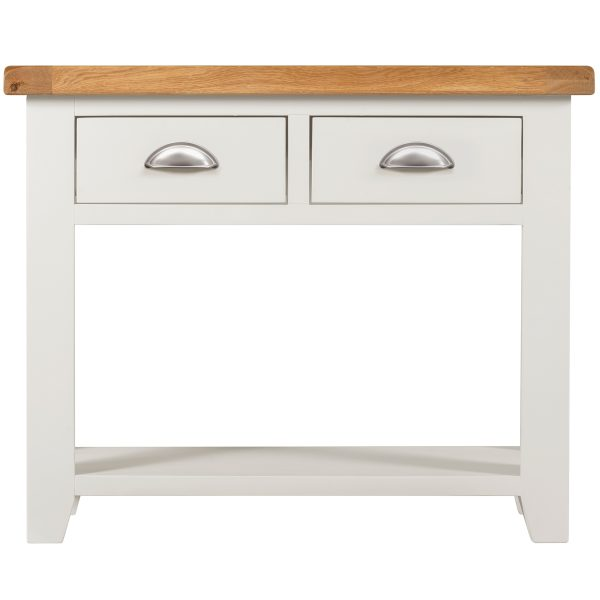 Willow White 2 Drawer Console Table