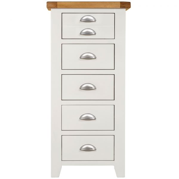Willow White 5 Drawer Tall Chest