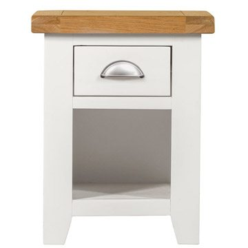 Willow White 1 Drawer Bedside Table