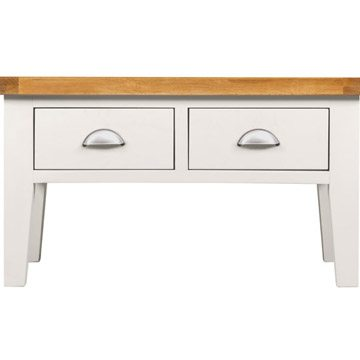 Willow White Coffee Table with Drawers